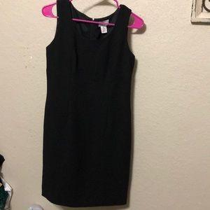Loft simple black dress, petites